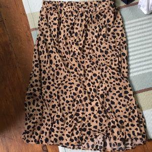 NWT leopard skirt